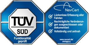 TUV gecertificeerd TravelControl kilometerregistratie